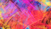 Abstract Red And Purple Chaotic Painted Texture. Colorful Fractal Background. Digital Art. 3d Rendering.