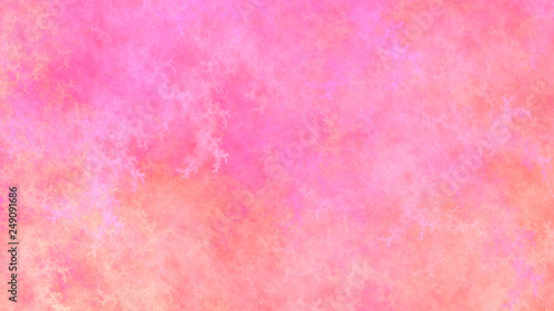 Tuinposter Candy roze Abstract fantastic rose clouds. Colorful fractal background. Digital art. 3d rendering.