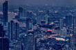 Bangkok city aerial view at evening, Thailand