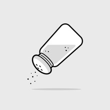 Salt Shaker Icon Vector Illust...