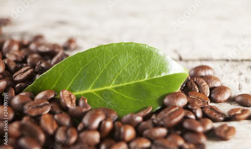 Deurstickers koffiebar graines de café torrréfiées