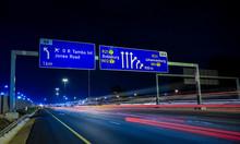 Motorway Signs On Highway At N...