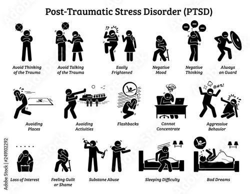 Fotografia Post Traumatic Stress Disorder PTSD signs and symptoms