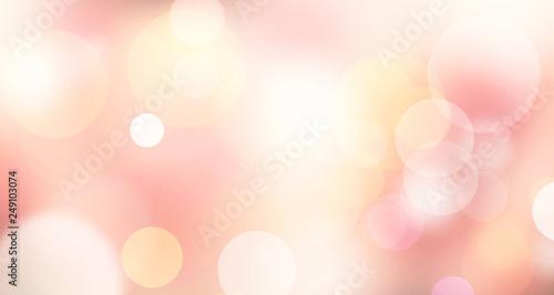 Pinturas sobre lienzo  Pink pastel orange blurred lights background.