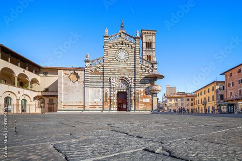 Fotografie, Obraz  Prato, Italy. Exterior of Cathedral of Santo Stefano