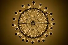 Vintage Chandelier Under Ceiling