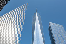 Lower Manhattan New York City, NYC With The One World Trade Center.