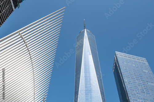 Lower Manhattan New York city, NYC with the One World Trade Center фототапет