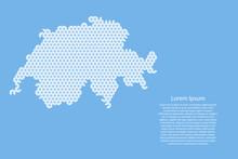 Switzerland Map Abstract Schem...