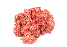 Raw Minced Meat Isolated On White Background