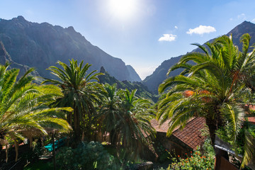 Fototapeta na wymiar Remotely located in the mountains picturesque village Masca, Tenerife, Canary Islands, Spain
