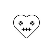 Dead Emoji Icon. Element Of Heart Emoji For Mobile Concept And Web Apps Illustration. Thin Line Icon For Website Design And Development, App Development