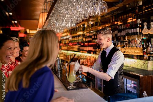 Bartender Making a Cocktail Canvas Print