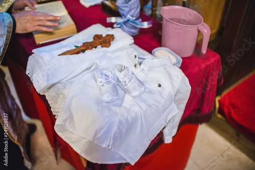 Photo White clothing for baptizing