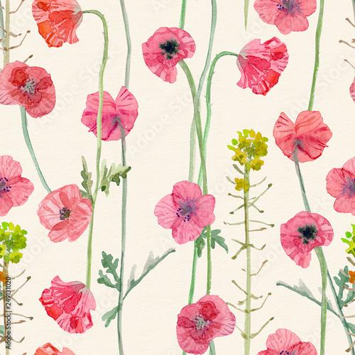 Tapety Retro  wdzieku-tekstura-z-kwiatem-makow-malarstwo-akwarelowe