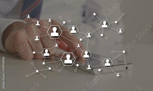 Fototapety, obrazy: Concept of social media network