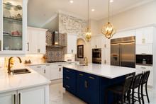 Modern White Kitchen In Estate...