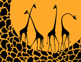 Panel Szklany Żyrafa giraffe illustration design