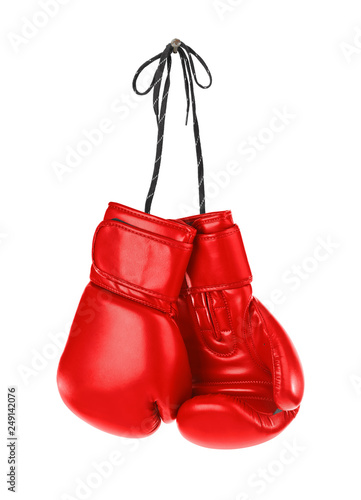 Fotografija  Hanging boxing gloves