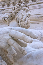 Statue Of River God Of The Tiber - Rome  Italy
