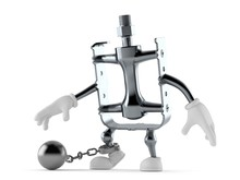 Bicycle Pedal Character With P...