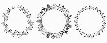 Hand Drawn Set Of Floral Vecto...