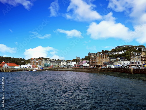 Oban Town Harbor Wallpaper Mural