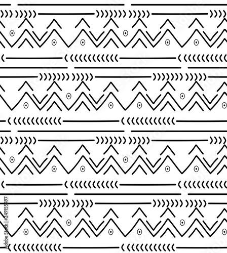 Foto auf AluDibond Boho-Stil Seamless pattern in boho style Ethnic and tribal motifs.
