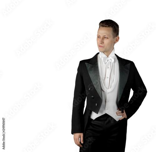 Fotografie, Obraz  handsome man portrait of a young actor