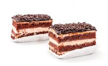 Tasty Chocolate Cake Isolated ...