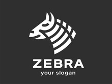 Abstract Zebra Logo Template. Vector Format, Available For Editing.