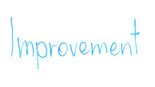 Improvement Word Written On Glass, Life Conditions Getting Better, Development