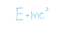 Mass-energy Equivalence Formula Written On Glass, Laws Of Classical Physics