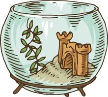Round Glass Fishbowl