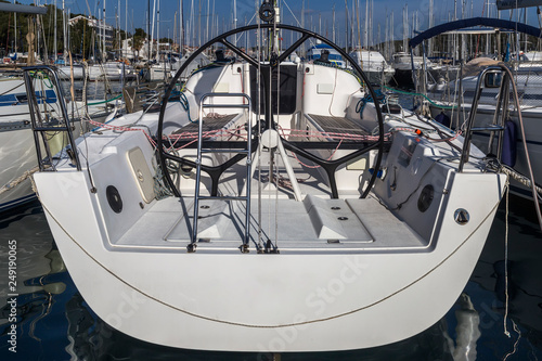 Fotografía Sailing boat helm