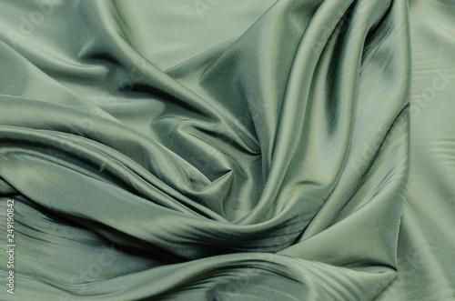 Fényképezés Lining fabric of viscose, acetate and elastane green