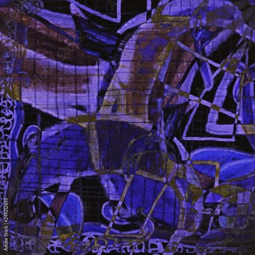Fototapety, obrazy: Light Distressed Background. Ink Print Distress Background. Grunge Texture.