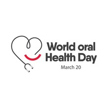 World Oral Health Day Logo Vec...