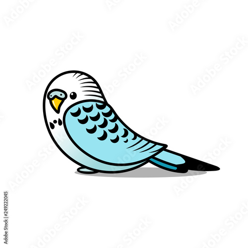 Fotografia Playful Parakeet for Children's Illustration