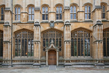 The Divinity School With Its Delicate Stone Framed Windows Dates From The 1400s, But The Door Was Added By Christopher Wren In The 17th Century.