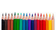 Color pencils on white background with isolated
