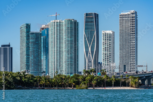 Poster Chicago Downtown Miami from the Ocean
