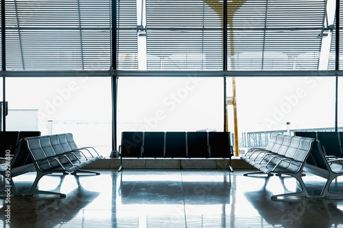 Canvas Prints Airport International airport empty seats waiting area