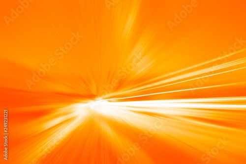 Leinwand Poster fast moving high speed blur hot heat orange fire color tone