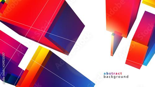 Fototapeta 3d kolorowe prostopadłościany tło wektor obraz