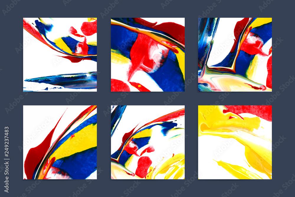 Fototapeta Mixed acrylic paintings