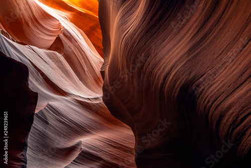 Photo Fancy fiery sand forms of the Lower Antelope Canyon Arizona