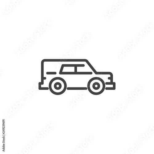 Photo  Hearse car line icon