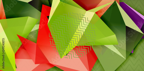 Fotografie, Tablou  Low poly design 3d triangular shape background, mosaic abstract design template