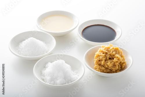 Fototapeta 基本の調味料 obraz